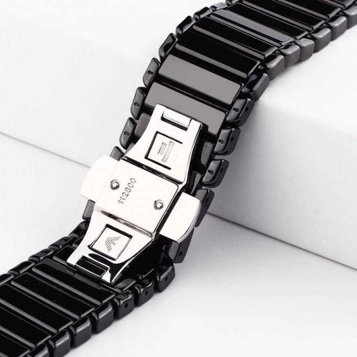 Браслет керамический для Apple Watch 38/40 мм, чёрный цвет