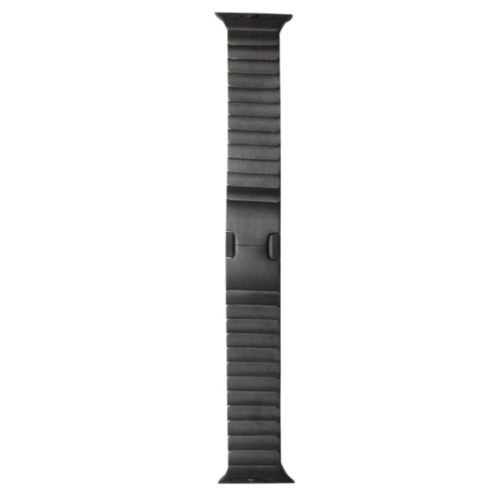 Браслет блочный из нержавеющей стали для Apple Watch 38/40 мм, чёрный цвет