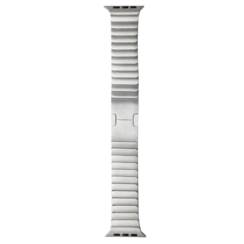 Браслет блочный из нержавеющей стали для Apple Watch 42/44 мм, серебристый цвет