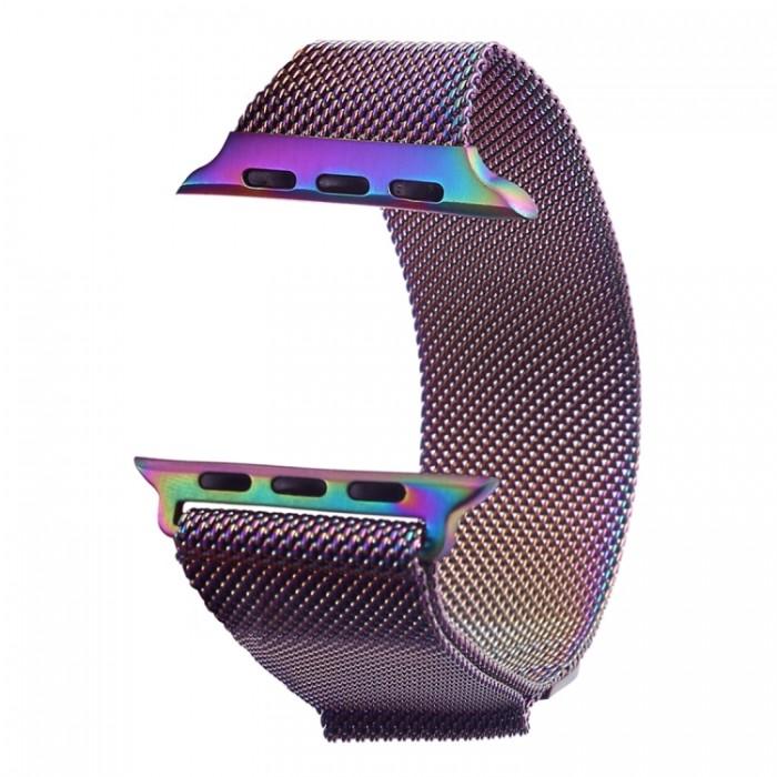 Браслет миланский сетчатый для Apple Watch 42/44 мм, цвет хамелеон