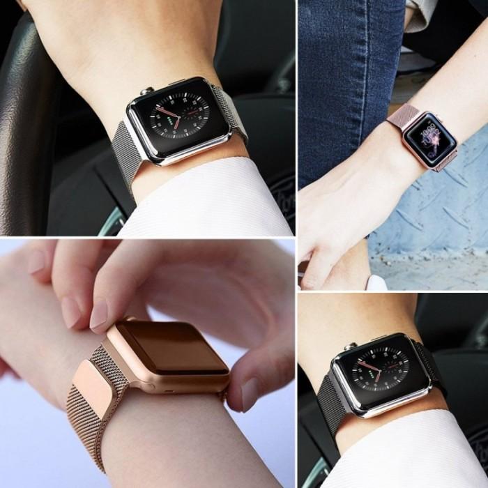 Браслет миланский сетчатый для Apple Watch 42/44 мм, оранжевый цвет