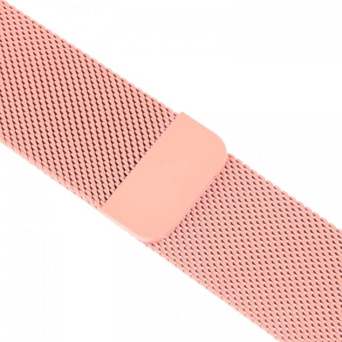 Браслет миланский сетчатый для Apple Watch 42/44 мм, розовый цвет