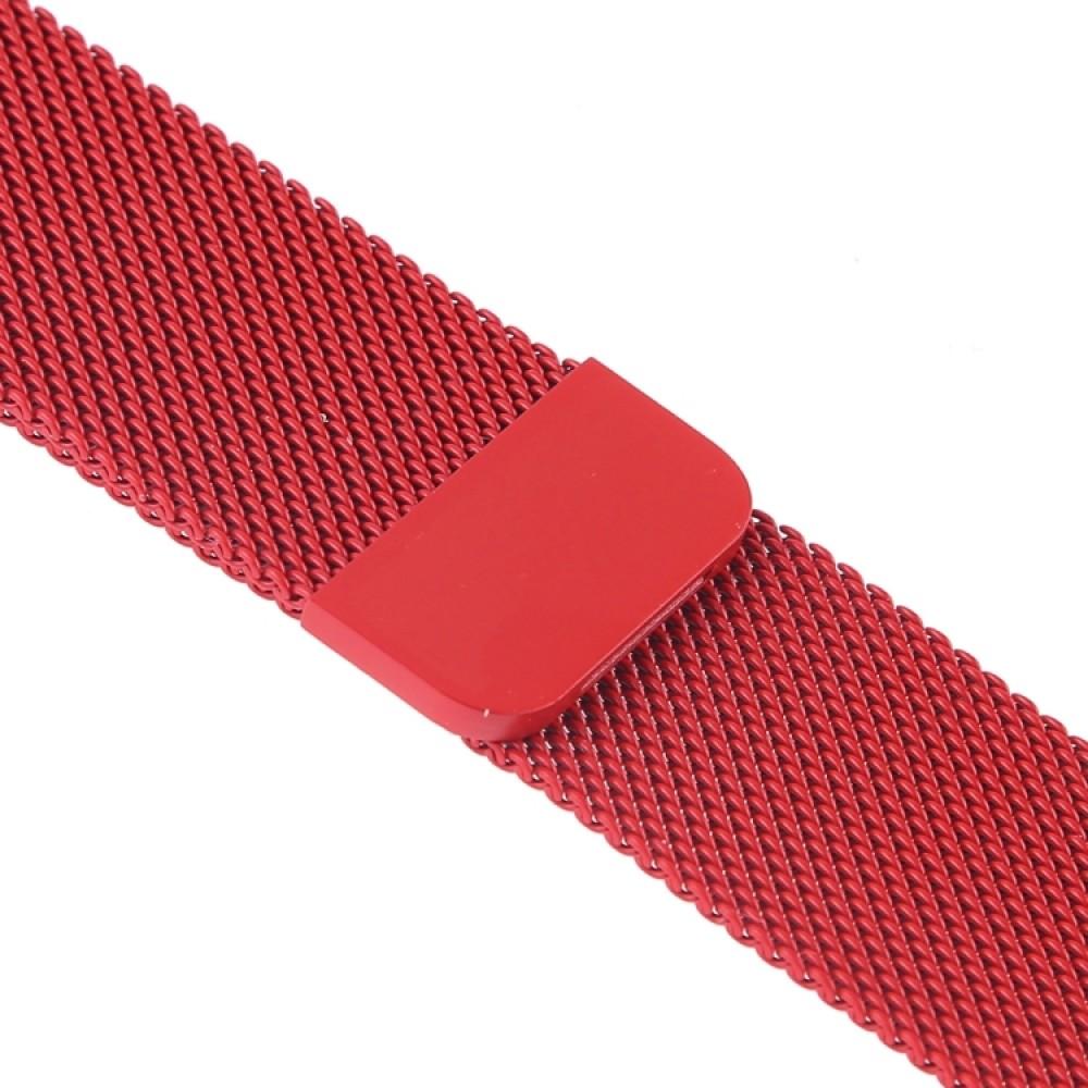 Браслет миланский сетчатый для Apple Watch 42/44 мм, красный цвет