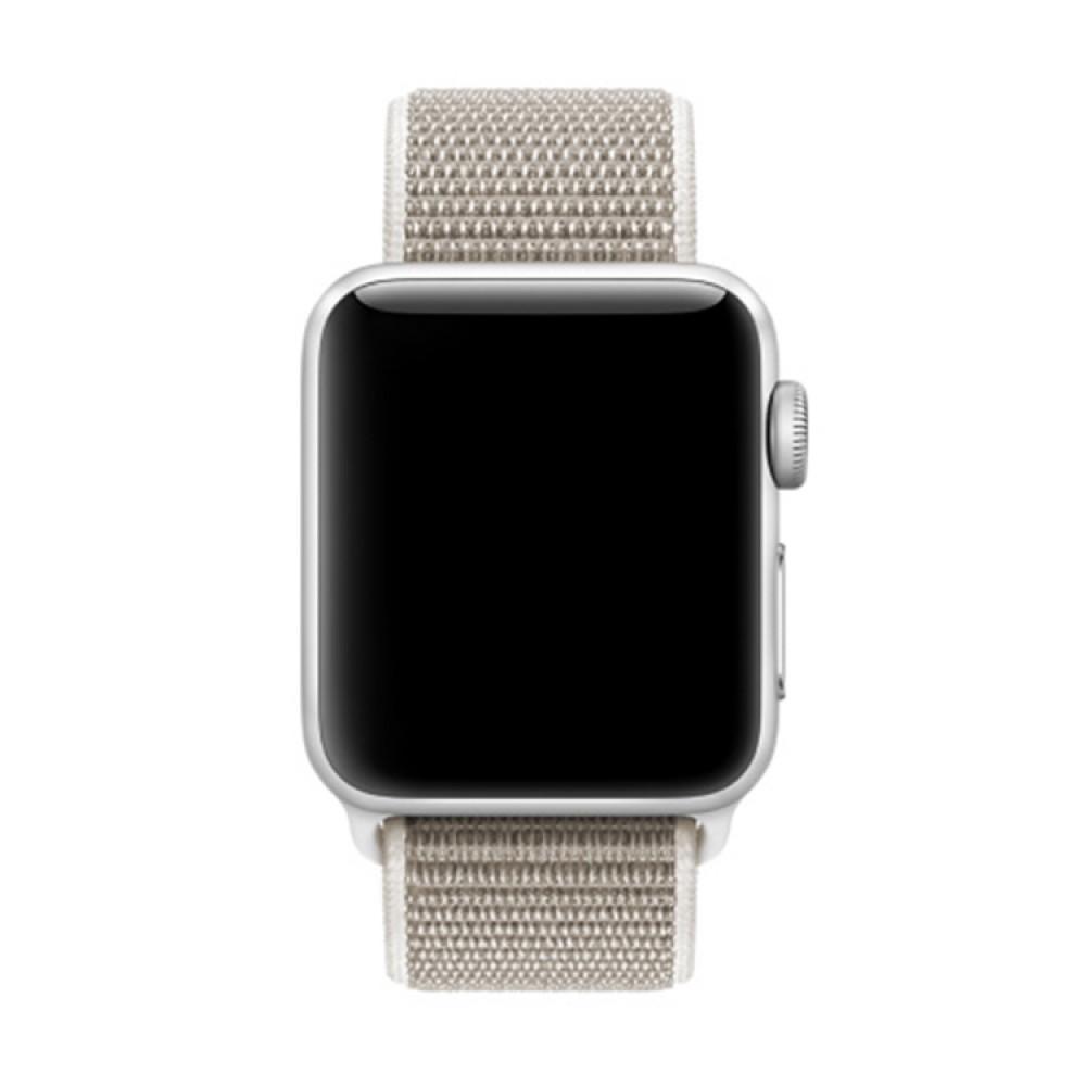 Ремешок из нейлона с застёжкой-липучкой для Apple Watch 38/40 мм, бежевый цвет