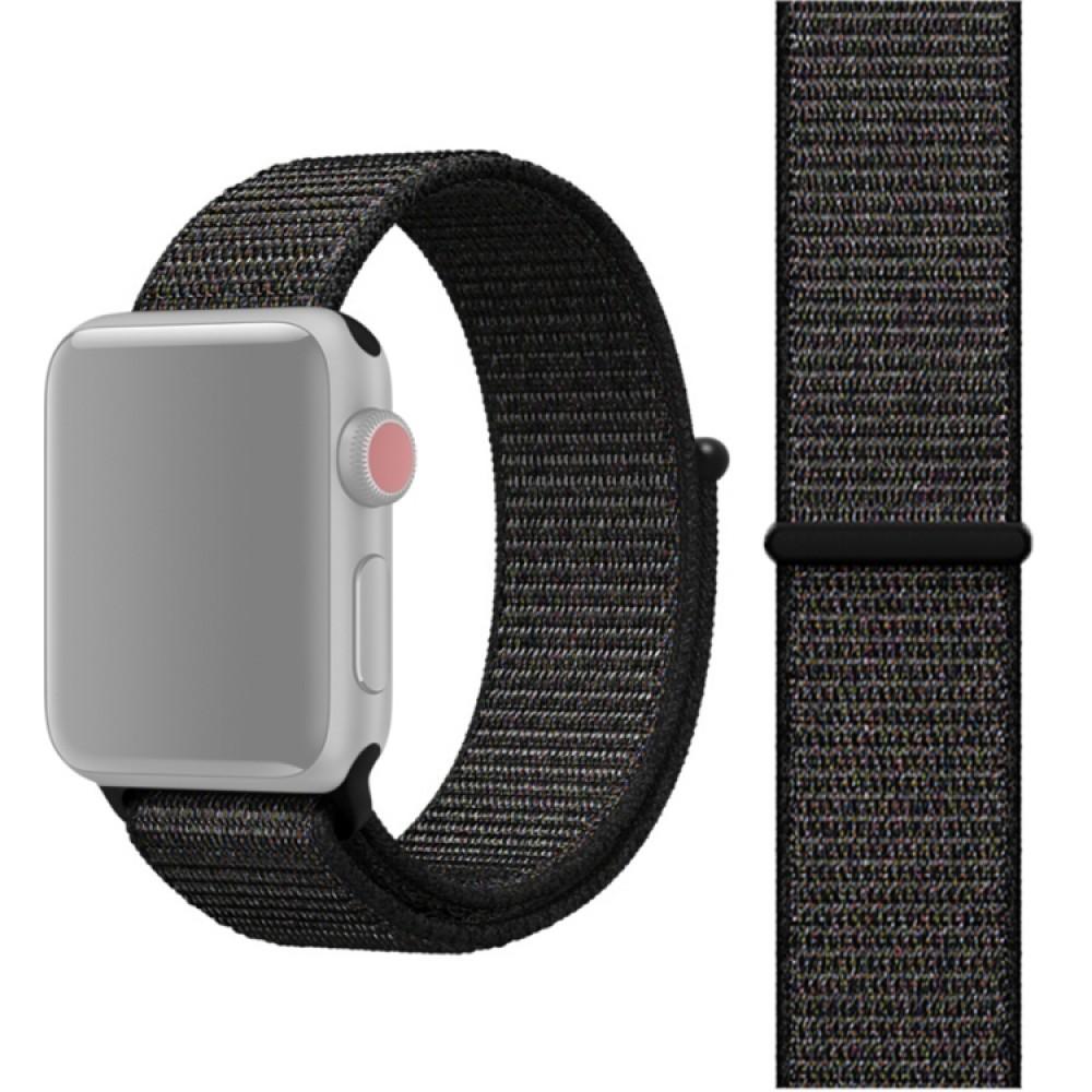 Ремешок из нейлона с застёжкой-липучкой для Apple Watch 38/40 мм, чёрный цвет