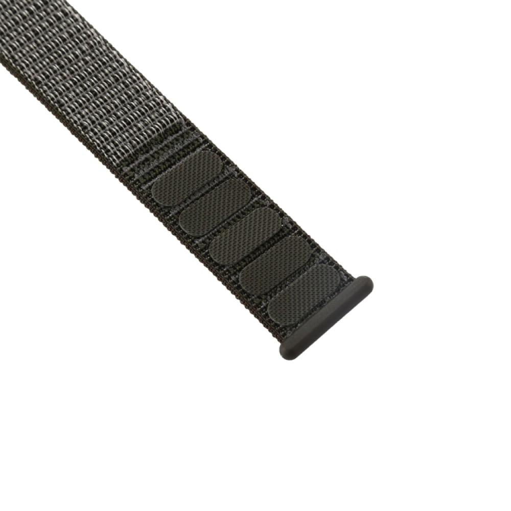 Ремешок из нейлона с застёжкой-липучкой для Apple Watch 38/40 мм, тёмно-серый цвет