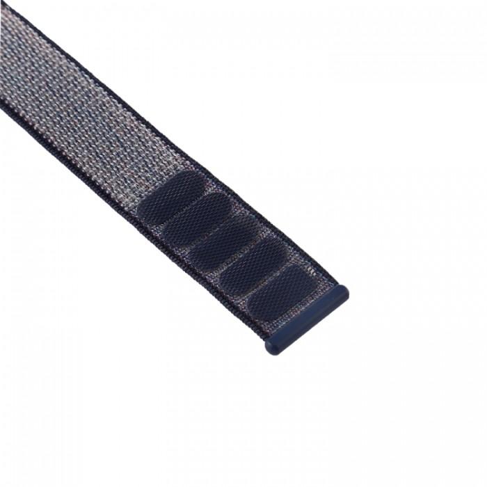 Ремешок из нейлона с застёжкой-липучкой для Apple Watch 42/44 мм, серо-синий цвет