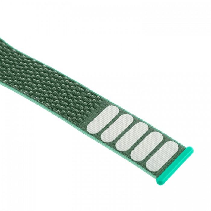 Ремешок из нейлона с застёжкой-липучкой для Apple Watch 38/40 мм, зелёный цвет
