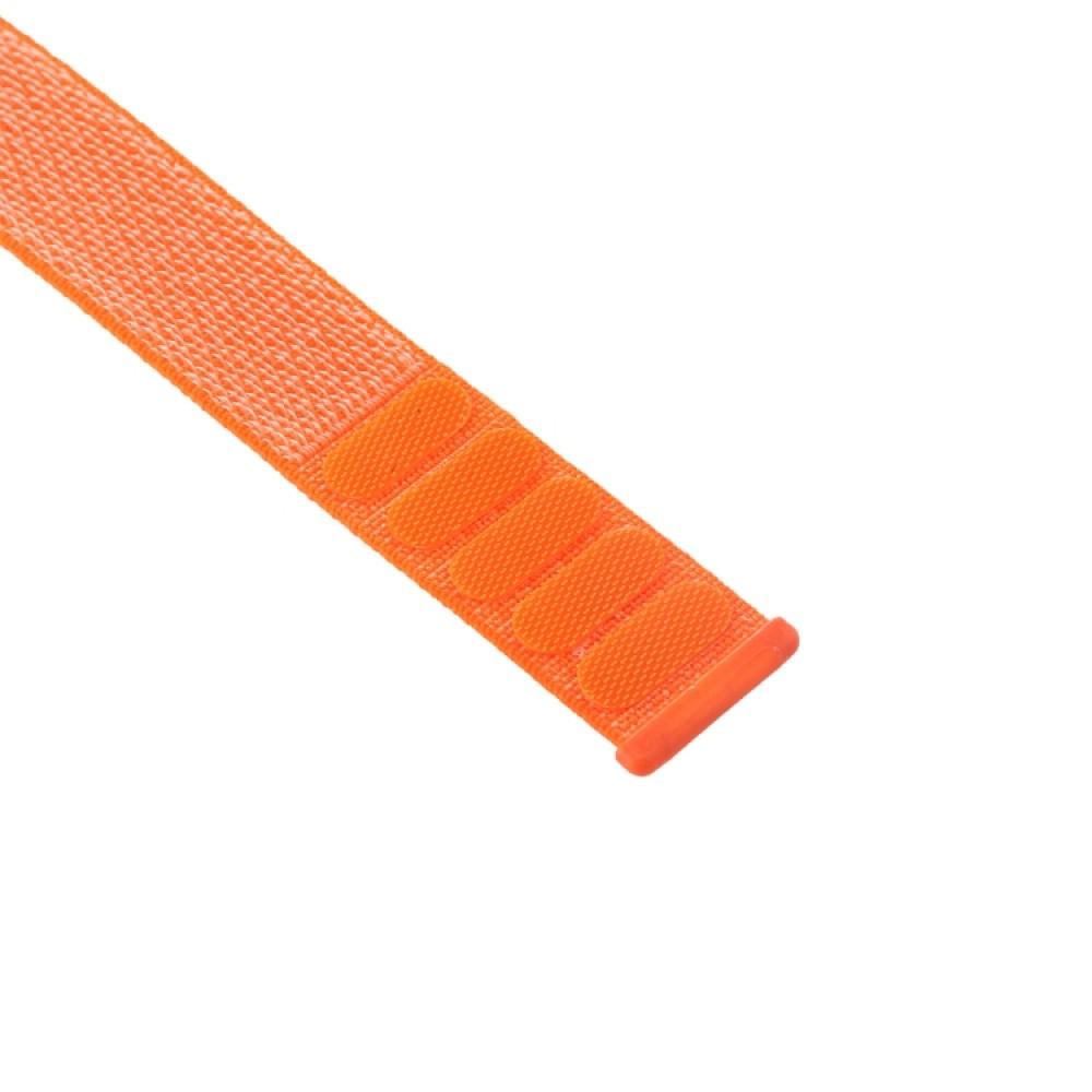 Ремешок из нейлона с застёжкой-липучкой для Apple Watch 42/44 мм, оранжевый цвет