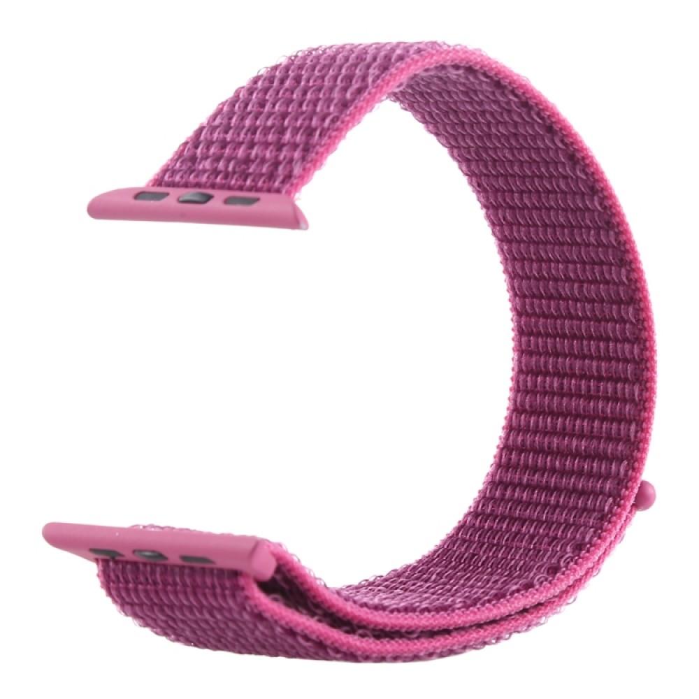 Ремешок из нейлона с застёжкой-липучкой для Apple Watch 42/44 мм, сиреневый цвет