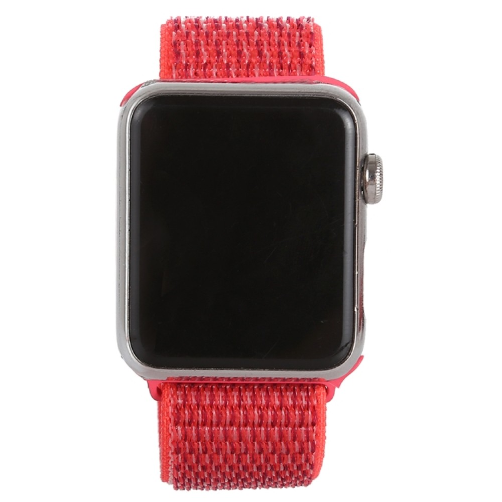 Ремешок из нейлона с застёжкой-липучкой для Apple Watch 42/44 мм, красный цвет