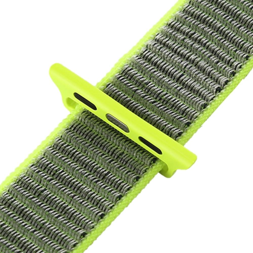 Ремешок из нейлона с застёжкой-липучкой для Apple Watch 38/40 мм, салатовый цвет