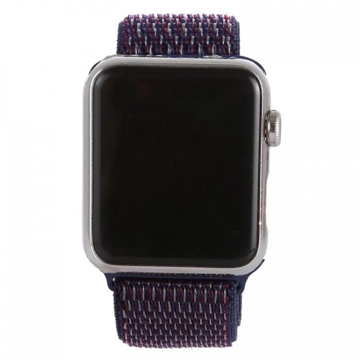 Ремешок из нейлона с застёжкой-липучкой для Apple Watch 42/44 мм, фиолетовый цвет
