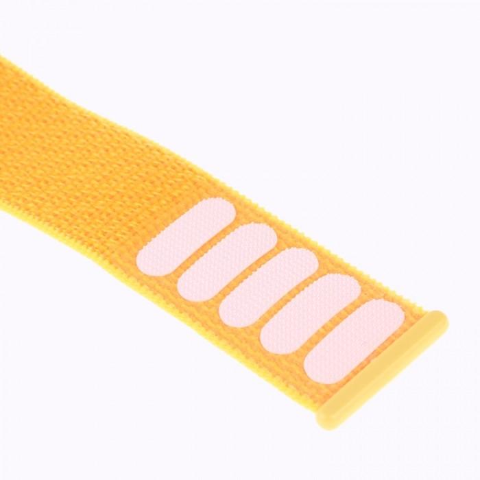 Ремешок из нейлона с застёжкой-липучкой для Apple Watch 42/44 мм, жёлтый цвет