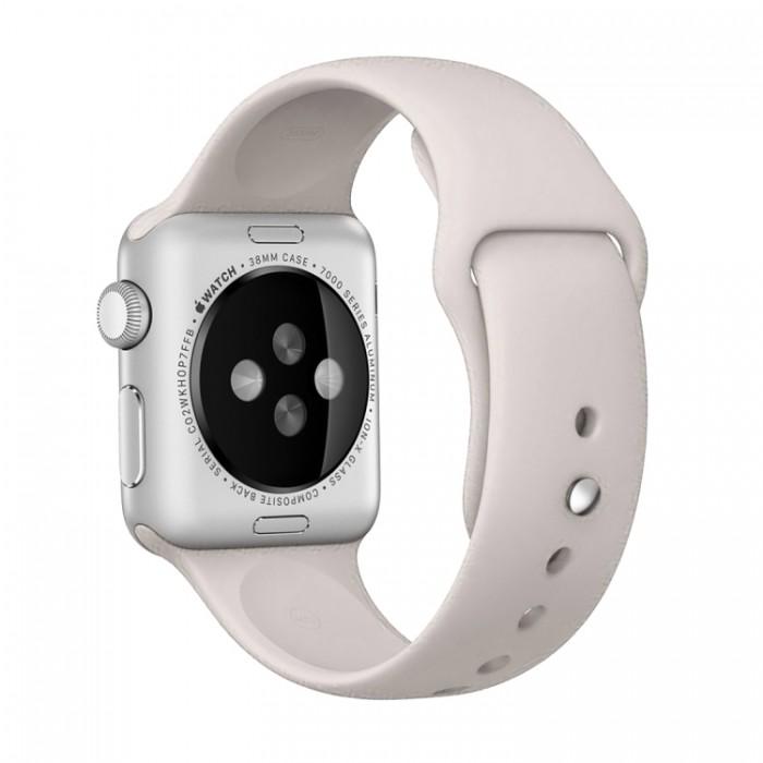 Ремешок спортивный для Apple Watch 38/40 мм, бежевый цвет