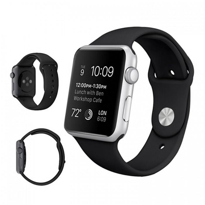Ремешок спортивный для Apple Watch 38/40 мм, чёрный цвет