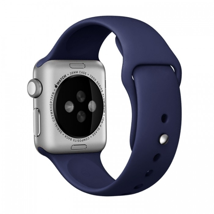 Ремешок спортивный для Apple Watch 42/44 мм, тёмно-синий цвет