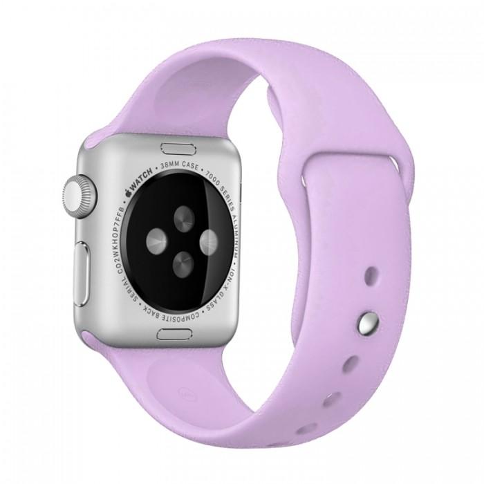 Ремешок спортивный для Apple Watch 38/40 мм, сиреневый цвет