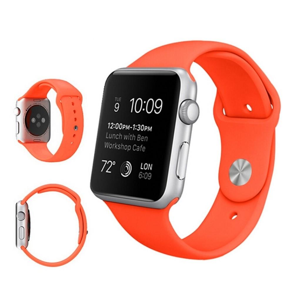 Ремешок спортивный для Apple Watch 38/40 мм, оранжевый цвет