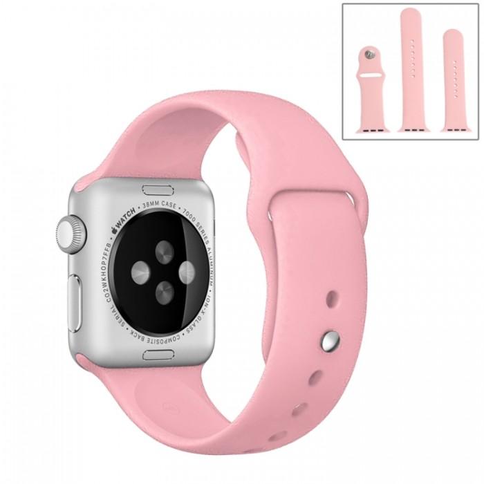 Ремешок спортивный для Apple Watch 42/44 мм, розовый цвет
