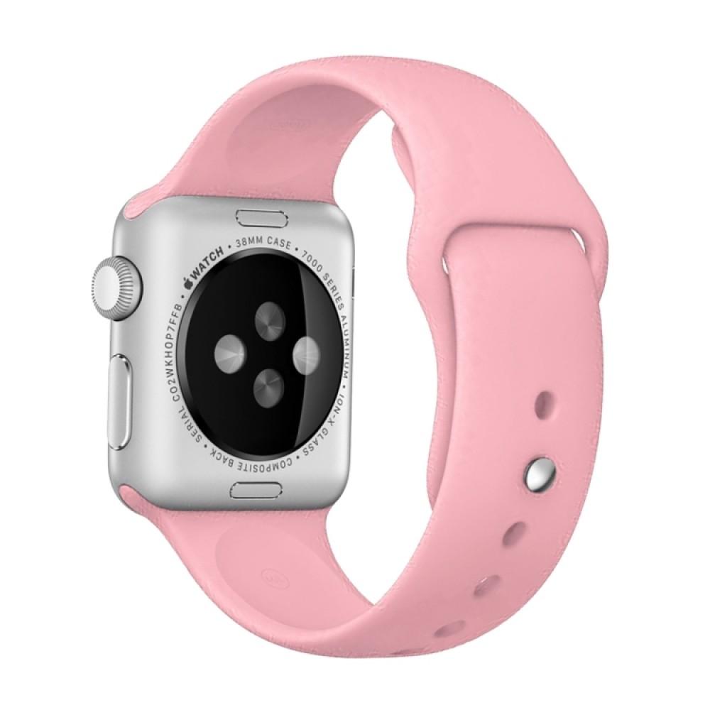 Ремешок спортивный для Apple Watch 38/40 мм, розовый цвет