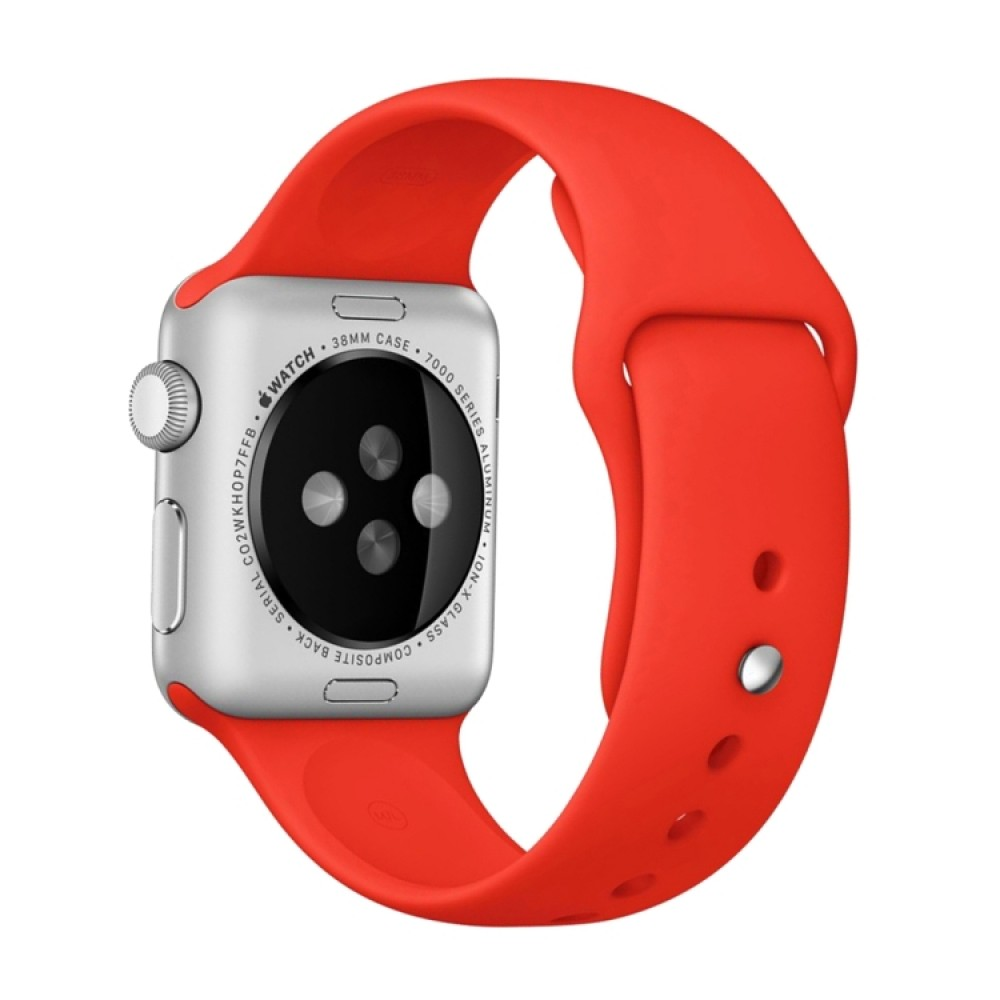 Ремешок спортивный для Apple Watch 38/40 мм, красный цвет