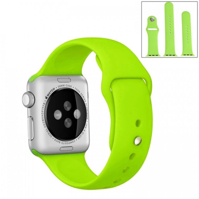 Ремешок спортивный для Apple Watch 42/44 мм, салатовый цвет