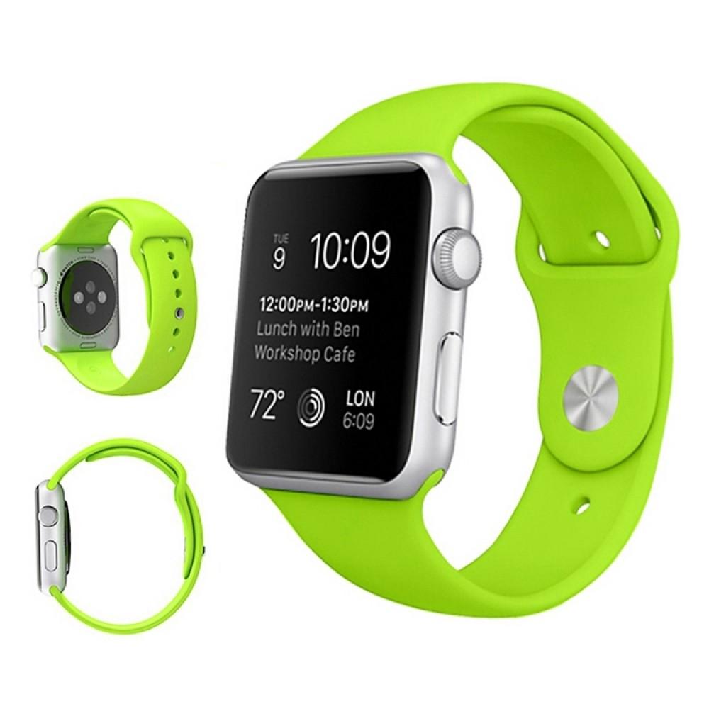 Ремешок спортивный для Apple Watch 38/40 мм, салатовый цвет