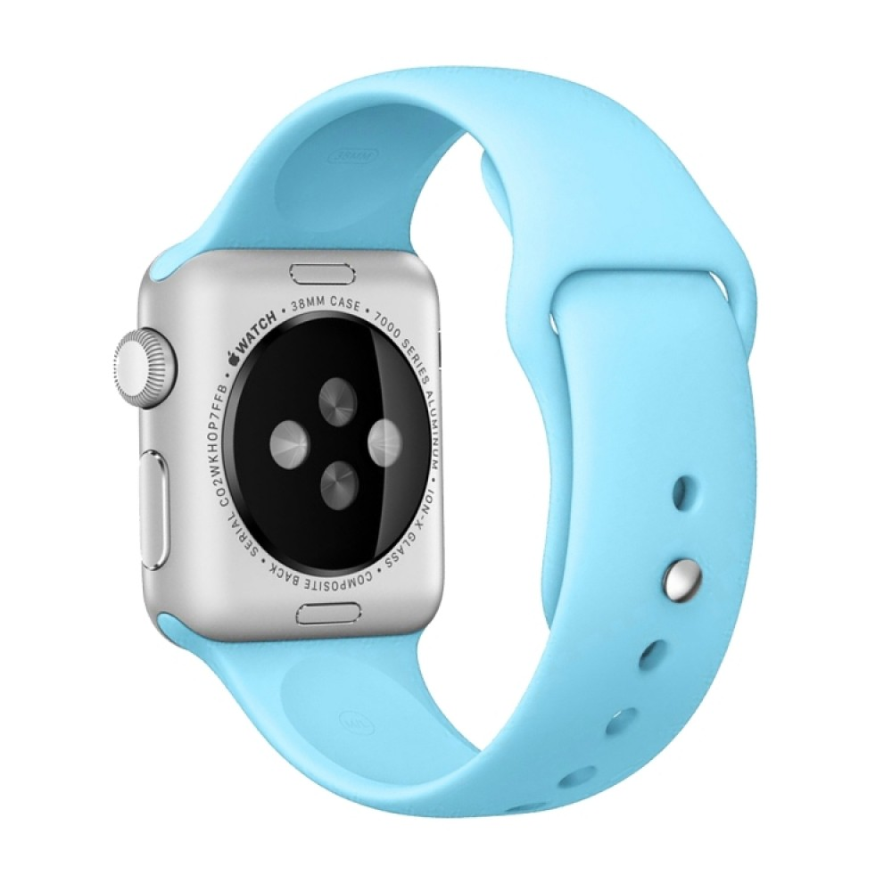 Ремешок спортивный для Apple Watch 38/40 мм, голубой цвет