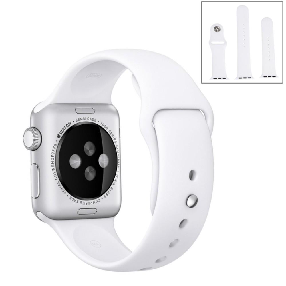 Ремешок спортивный для Apple Watch 38/40 мм, белый цвет