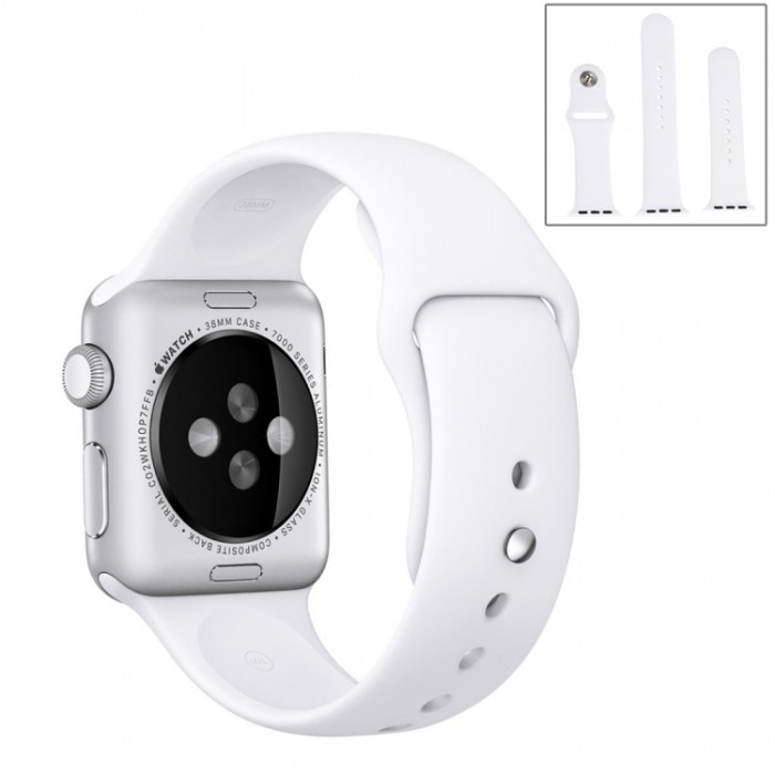 Ремешок спортивный для Apple Watch 42/44 мм, белый цвет