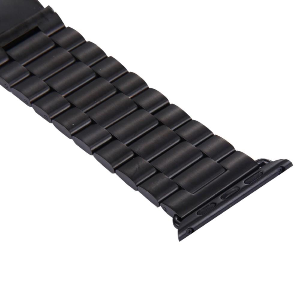 Браслет из нержавеющей стали для Apple Watch 42/44 мм, чёрный цвет