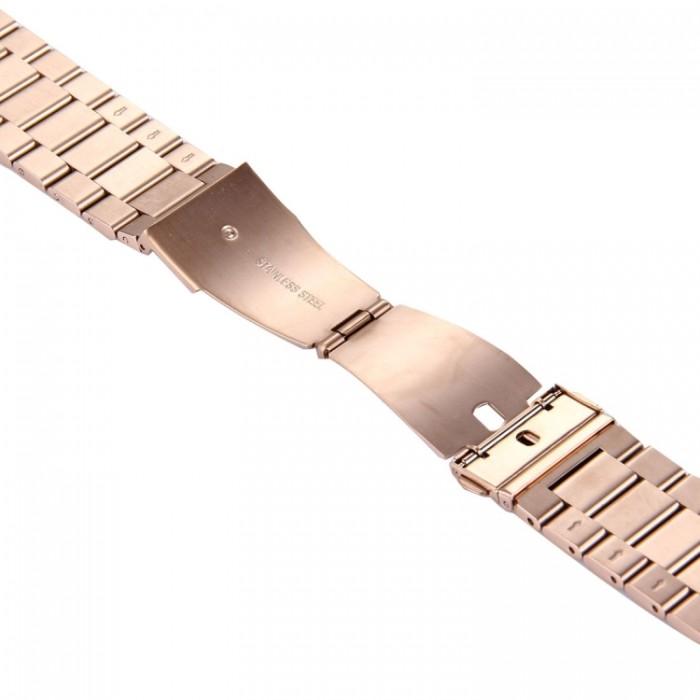 Браслет из нержавеющей стали для Apple Watch 42/44 мм, цвет розовое золото