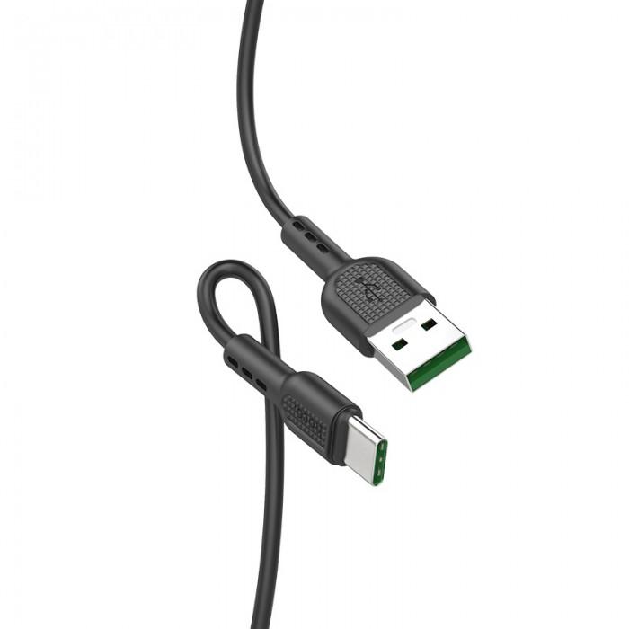 Кабель Hoco X33 USB-A/USB-C 5A (1 м), чёрный цвет