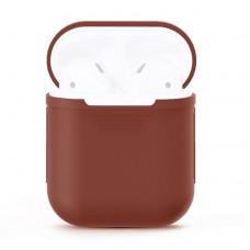 Чехол силиконовый для AirPods 1/2, коричневый цвет