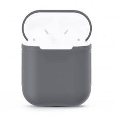 Чехол силиконовый для AirPods 1/2, серый цвет