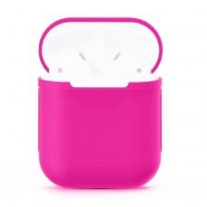 Чехол силиконовый для AirPods 1/2, цвет маджента