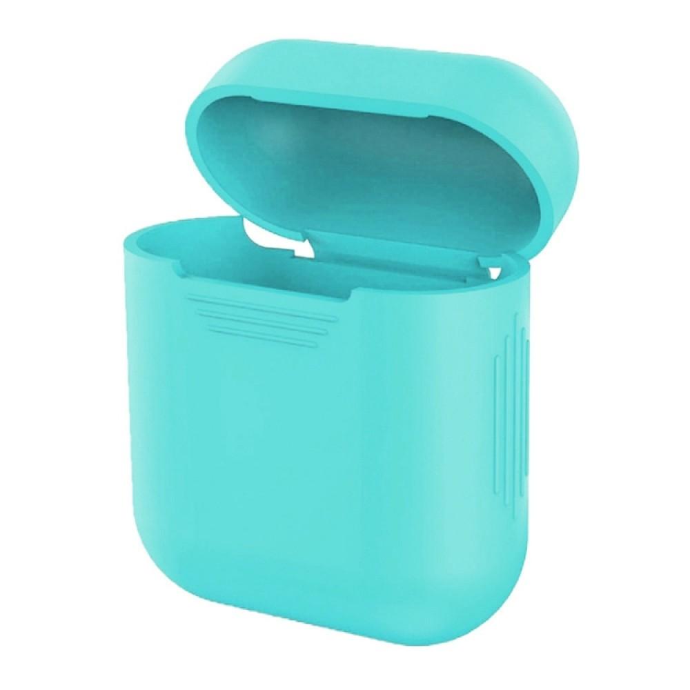 Чехол силиконовый для AirPods 1/2, бирюзовый цвет