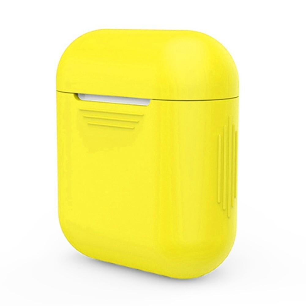 Чехол силиконовый для AirPods 1/2, жёлтый цвет