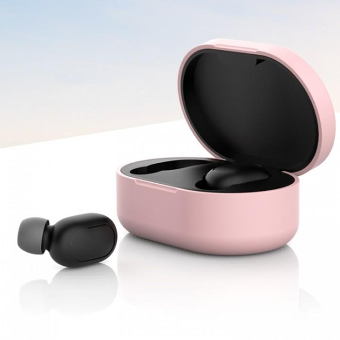 Чехол силиконовый для Redmi AirDots, розовый цвет