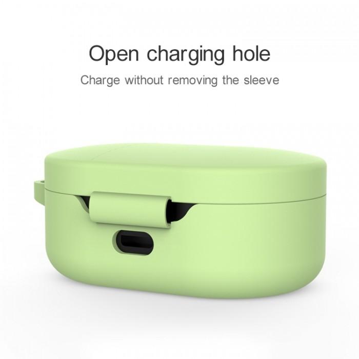 Чехол силиконовый для Redmi AirDots и Xiaomi AirDots Youth Edition, зелёный цвет
