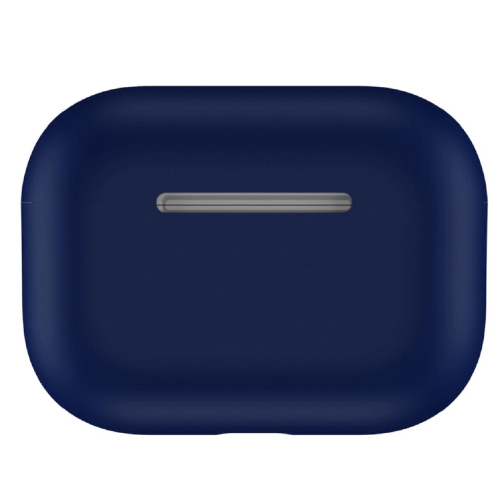 Чехол силиконовый для AirPods Pro, тёмно-синий цвет