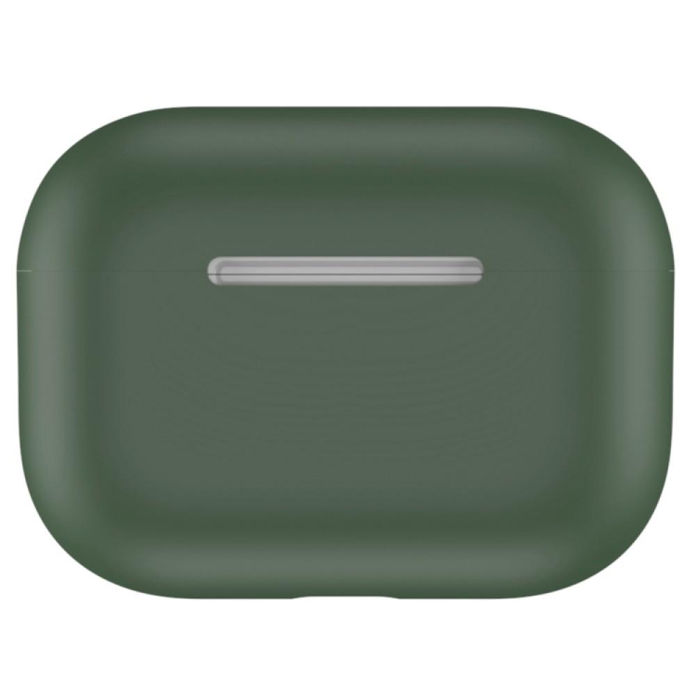 Чехол силиконовый для AirPods Pro, тёмно-зелёный цвет