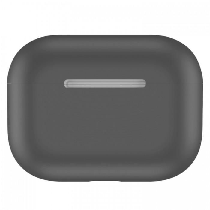 Чехол силиконовый для AirPods Pro, тёмно-серый цвет