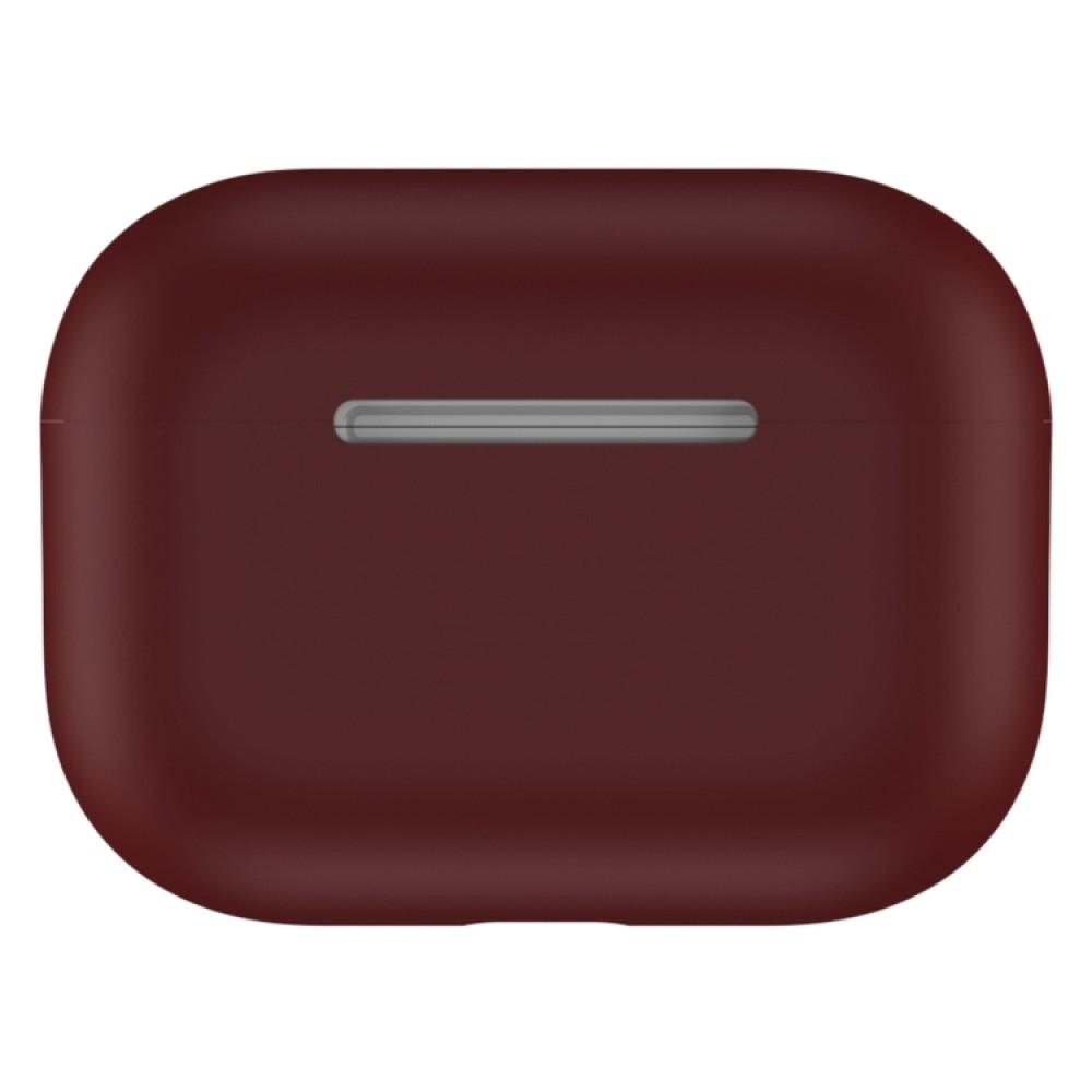 Чехол силиконовый для AirPods Pro, тёмно-бордовый цвет