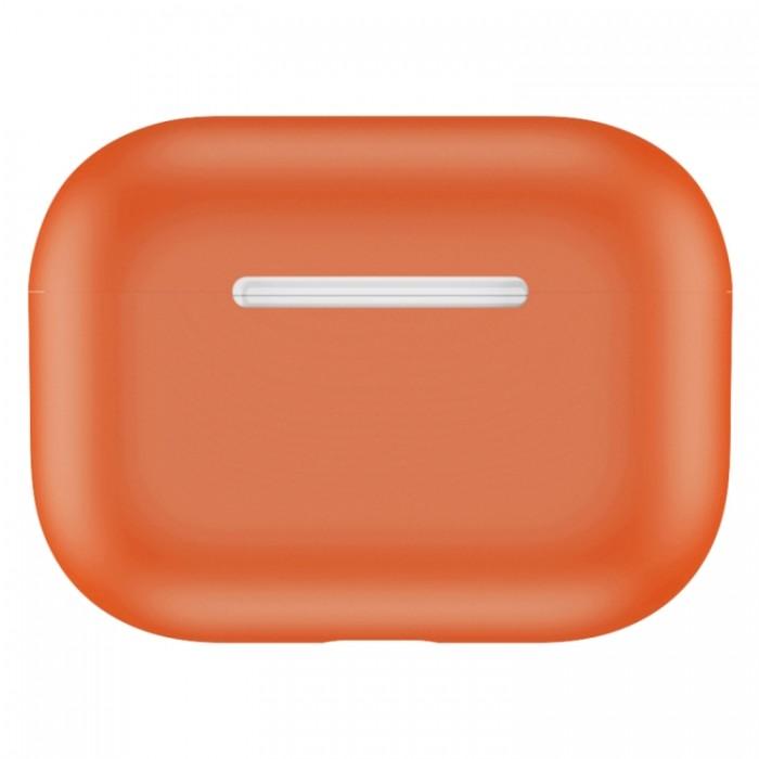 Чехол силиконовый для AirPods Pro, тёмно-оранжевый цвет