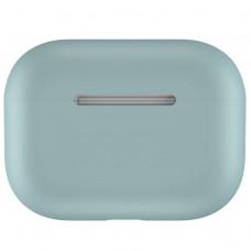 Чехол силиконовый для AirPods Pro, серо-зелёный цвет