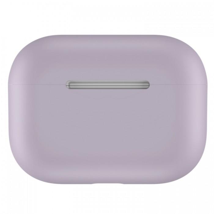 Чехол силиконовый для AirPods Pro, бледно-сиреневый цвет