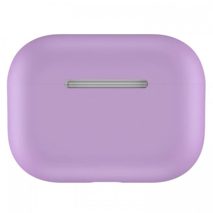 Чехол силиконовый для AirPods Pro, сиреневый цвет