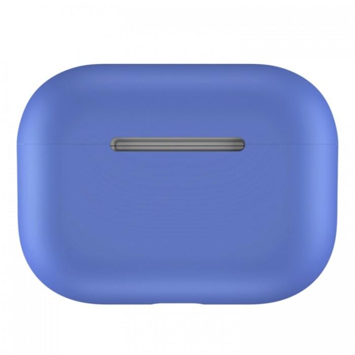 Чехол силиконовый для AirPods Pro, светло-синий цвет